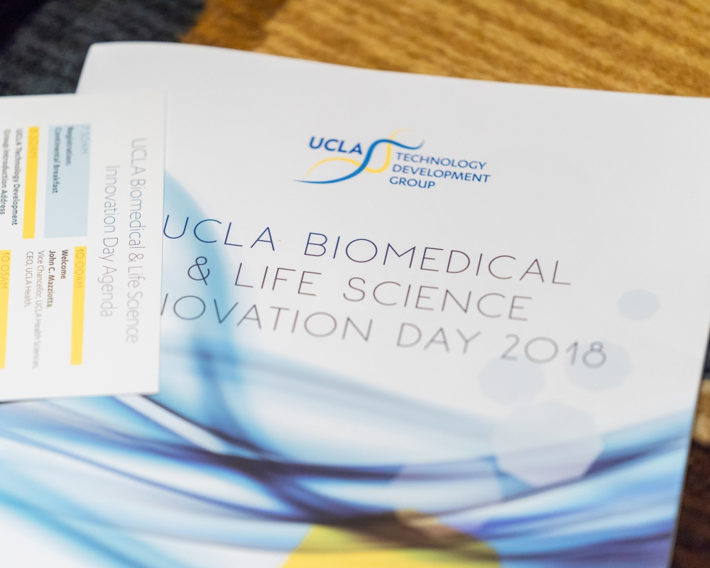 2018 UCLA Biomedical & Life Science Innovation Day program book cover