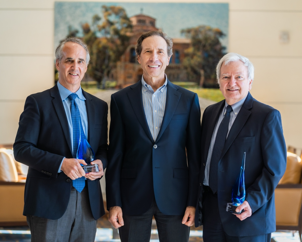 David A. Piacquad with the Amgen Early Innovator Award recipients